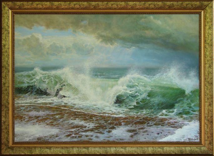 Бушуващо се море, пейзаж по снимка