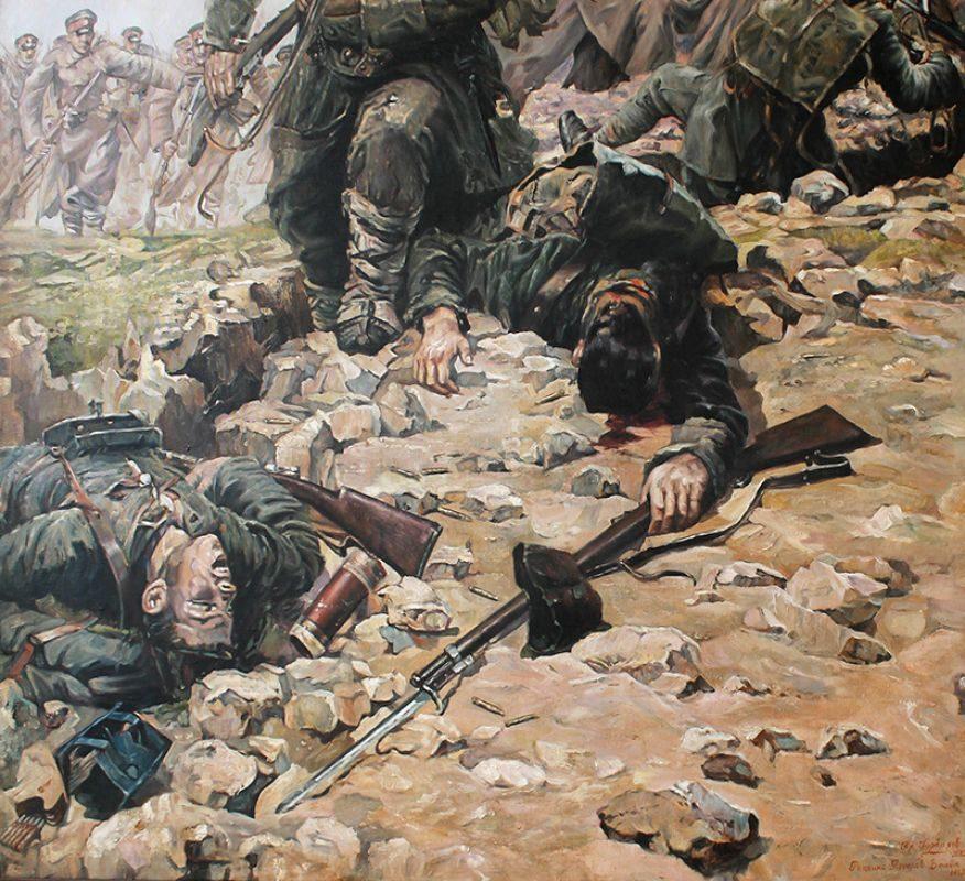 Бой на шипка, детайл, репродукция Пламен Гурбалов